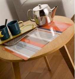 Lot de sets de table Colorama Stripes orange Calitex