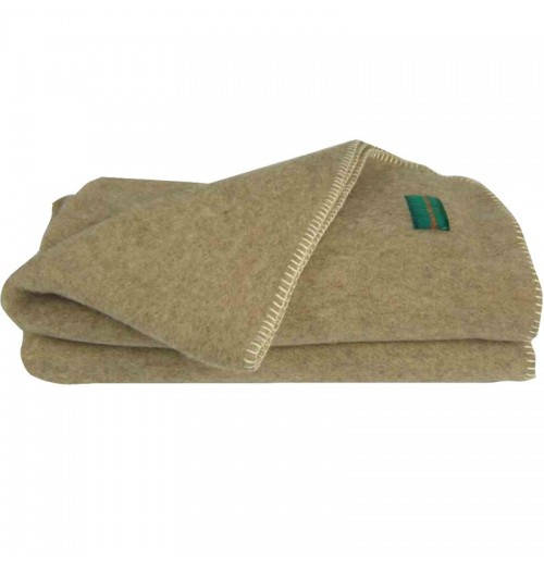 Couverture laine bio Robin Marieton - Blancollection