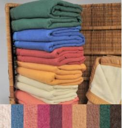 Couverture pure laine vierge Woolmark 600g/m² Ourson