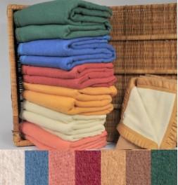 Couverture pure laine vierge Woolmark 500g/m² Ourson