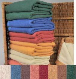 Couverture pure laine vierge Woolmark 350g/m² Ourson