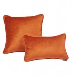 Coussin velours Révélation orange Autrement Dit