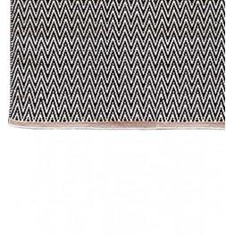 Tapis de bain coton 1250g/m² Lozenga noir zoom