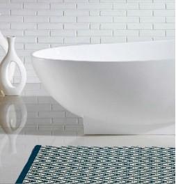 Tapis de bain coton 1250g/m² Lozenga noir