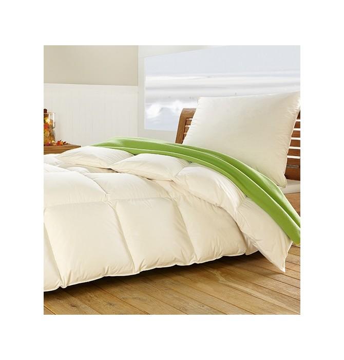couette duvet d 39 oie l g re enveloppe coton bio. Black Bedroom Furniture Sets. Home Design Ideas