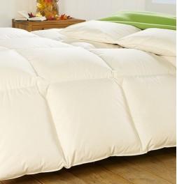 Couette 90% duvet d'oie 280g/m² chaude - enveloppe coton bio