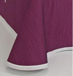 Couvre-lit tissé jacquard réversible Lynette violet - revers zoom