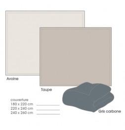 Couverture polaire velours 280g/m² 3 coloris