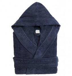 Peignoir capuche coton 380g/m² Constant bleu nuit