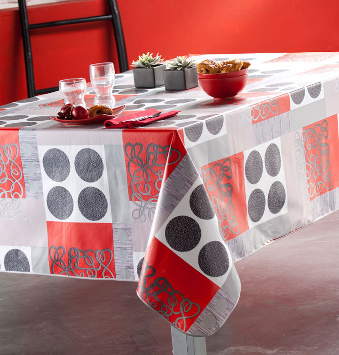 nappe toile cir e flag calitex blancollection. Black Bedroom Furniture Sets. Home Design Ideas