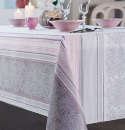 Nappe polyester Rayures Cachemire Calitex
