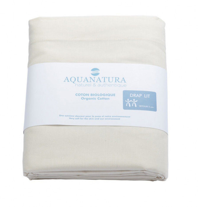 Drap coton bio naturel Aquanatura