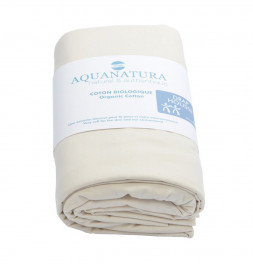 Drap-housse coton bio naturel Aquanatura