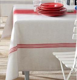 Nappe polyester Bistrot rouge Tradilinge