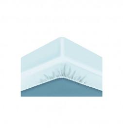 Bonnets sur-matelas Sensation duvet Bleu Câlin