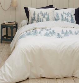 Parure de lit percale Récit d'hiver Sylvie Thiriez