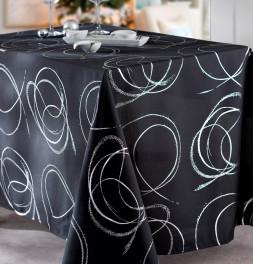 Nappe polyester Buzan noir Calitex