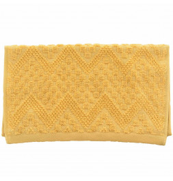 Lot de 2 serviettes de toilette coton bio Malawi miel Sensei