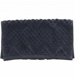 Lot de 2 serviettes de toilette coton bio Malawi carbone Sensei