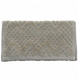 Lot de 2 serviettes de toilette coton bio Malawi corde Sensei