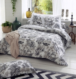 Parure de lit satin Savane blanc Tradilinge