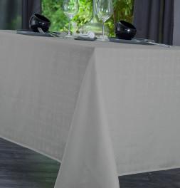 Nappe damassée polyester Venezia chamois Nydel
