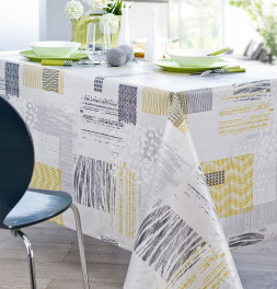 Nappe coton enduite PVC Texture Ethnic Nydel