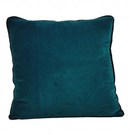 Coussin velours Isilde geai Vent du Sud