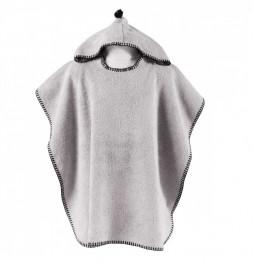 Ponchon de bain coton bio Bio Fundy gris perle Sensei