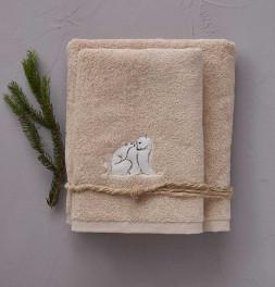 Lot de 2 serviettes de toilette 550g/m² Arctique naturel