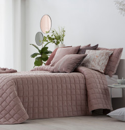 Boutis velours Marinel rose Antilo