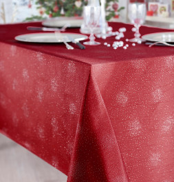 Nappe polyester Fanthéa rouge Calitex