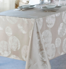 Nappe polyester Bullou champagne