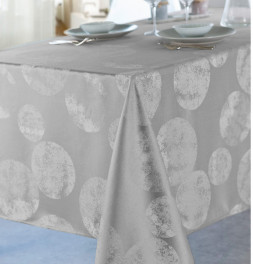 Nappe polyester Bullou argent Calitex
