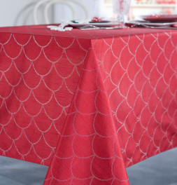 Nappe polyester Fibie rouge