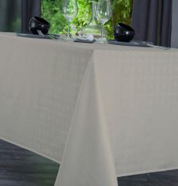 Nappe damassée polyester Venezia sable Nydel