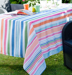 Nappe polyester Ice Stripe Calitex