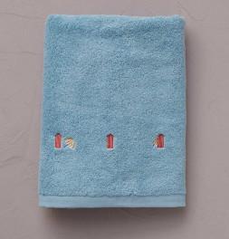 Serviette de toilette Bain de mer bleu Sylvie Thiriez