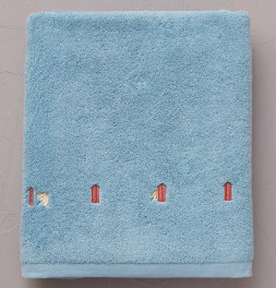 Drap de bain Bain de mer bleu Sylvie Thiriez