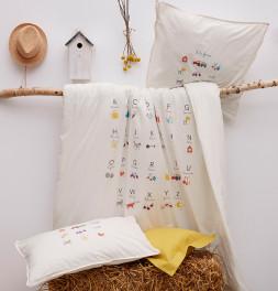 Parure de lit enfant A la ferme Sylvie Thiriez
