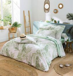 Parure de lit A l'Ombre vert Tradilinge