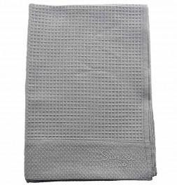 Serviette de toilette nid d'abeille Spa gris perle Sensei