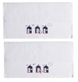 Serviettes de toilette Cabine blanc Sensei