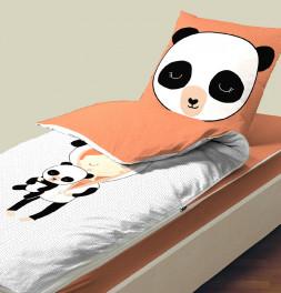 Caradou avec couette Miss Panda Bleu Câline