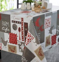 Nappe toile cirée Farm life Calitex
