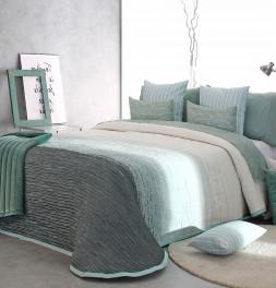 Couvre-lit tissé jacquard Billie vert