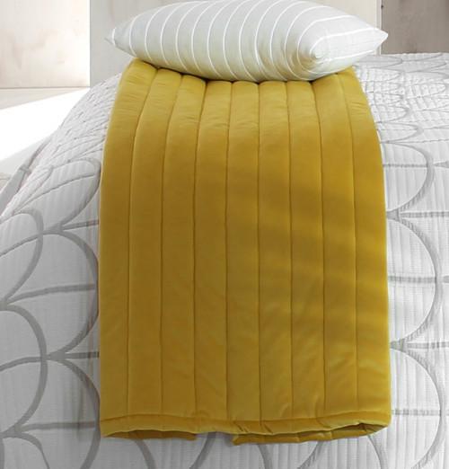 Chemin de lit velours Venice jaune Reig Marti