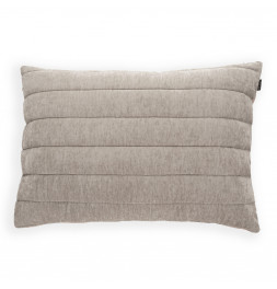 Housse coussin velours taupe Antilo