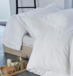 Drap housse coton bio et chanvre Organic blanc Nydel