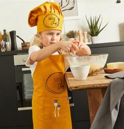 Lot tablier et toque enfant Chef Nydel